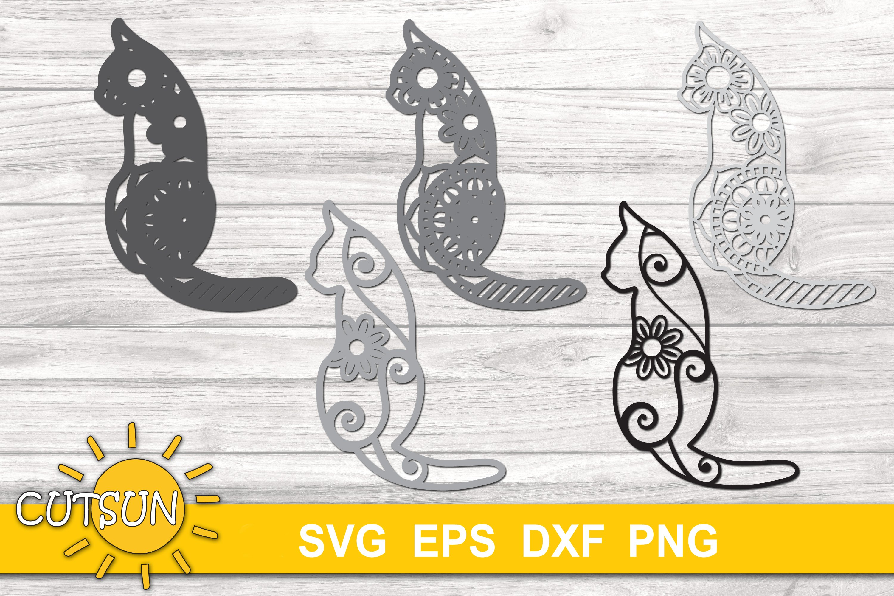 58+ Free 3D Cat Mandala Svg – SVG,PNG,DXF,EPS include