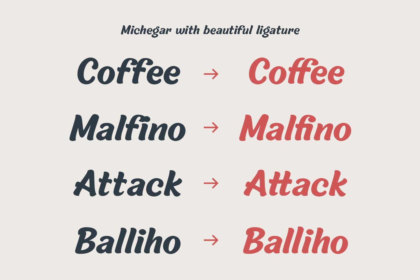 Michegar - Modern and Casual Sans example image 2