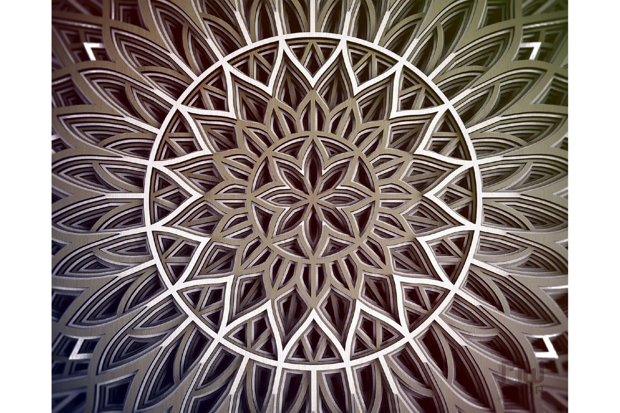 M94 - Flower Mandala DXF file, Multilayer Mandala SVG example image 10