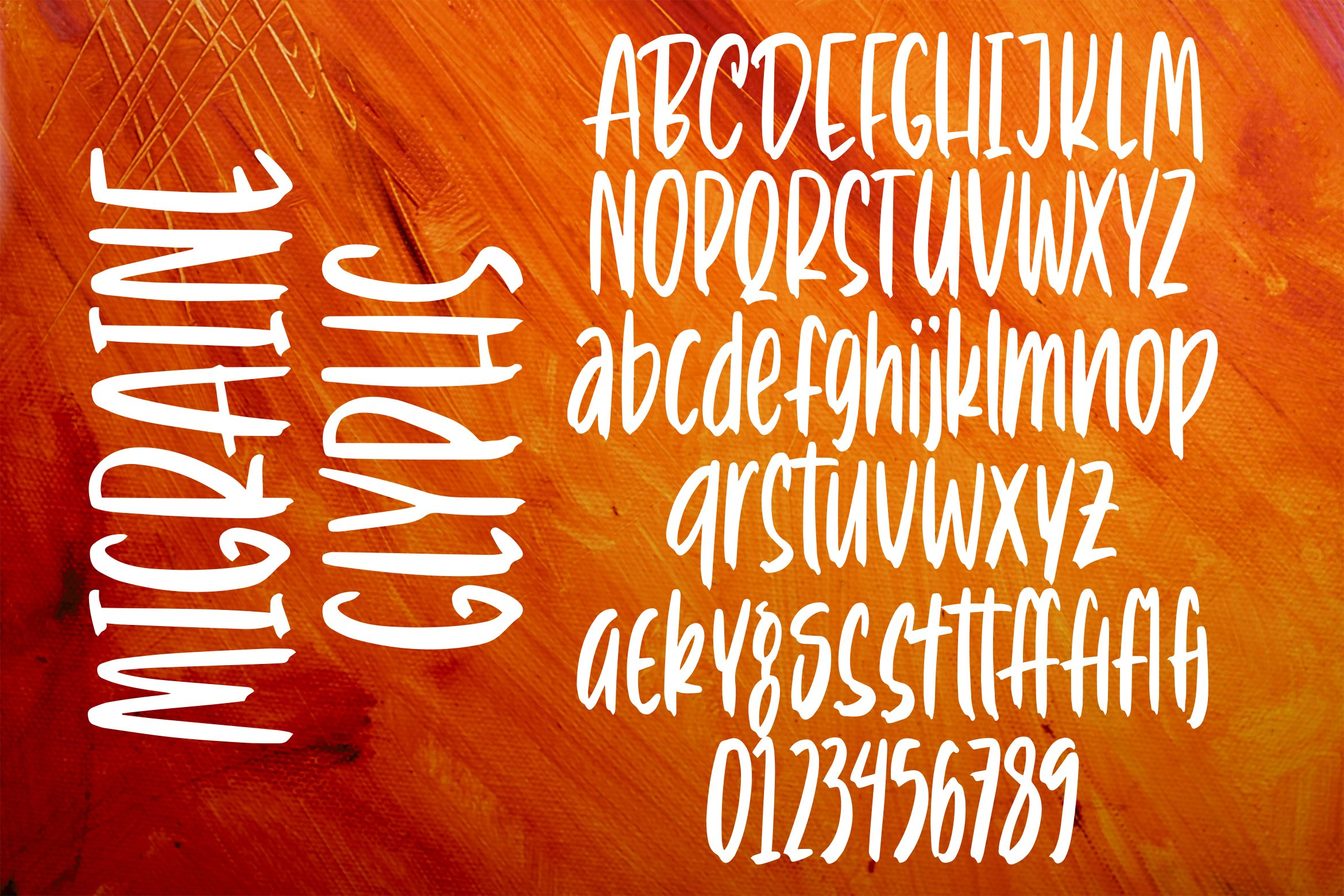 Migraine - Tall Handlettering Brush Font example image 5