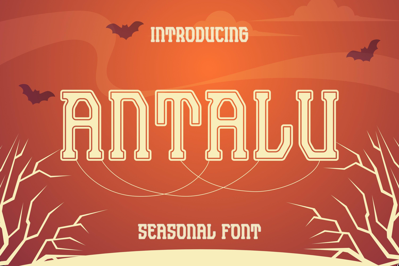 Antalu Font example image 1