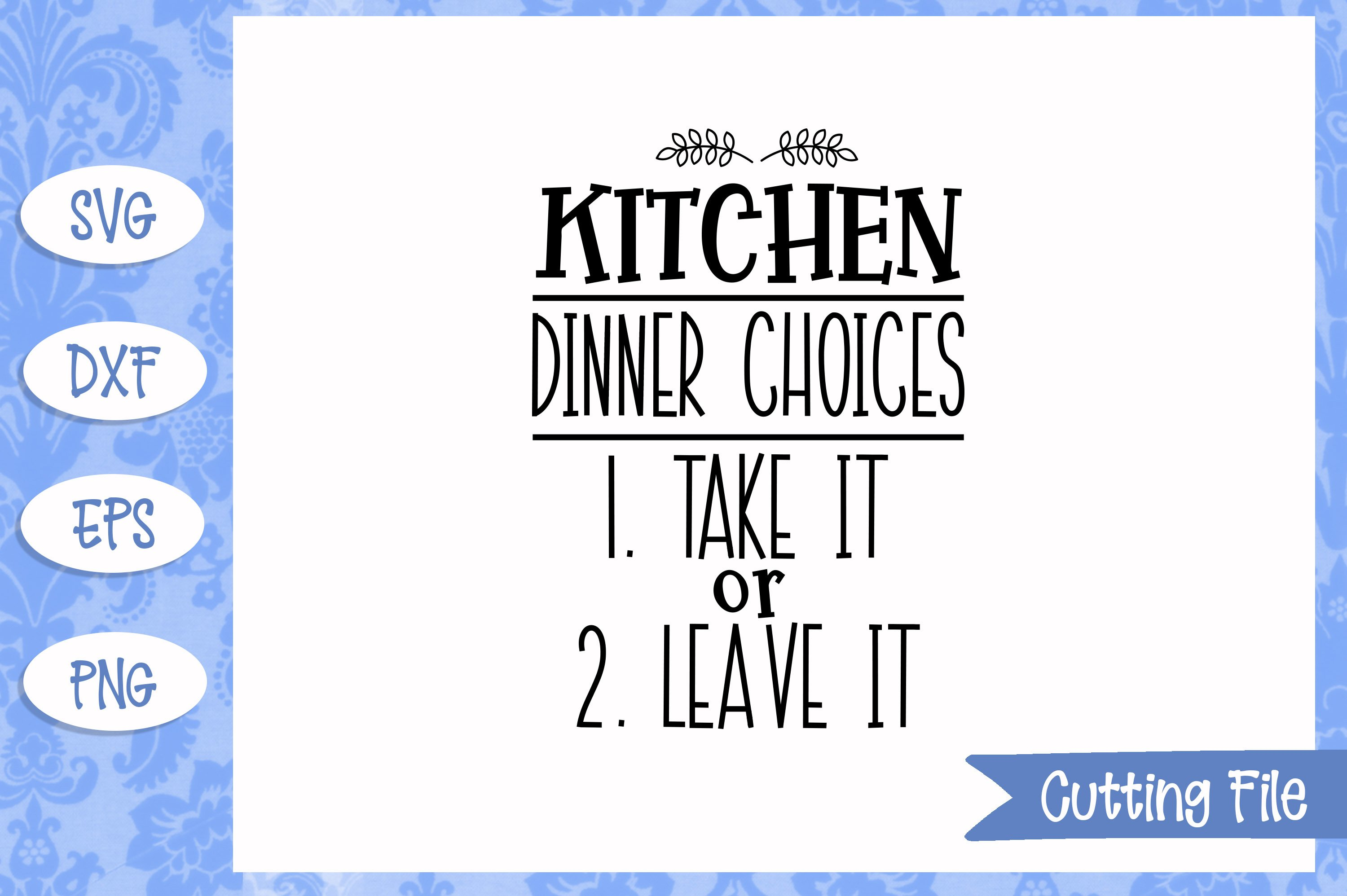 Dinner choices SVG File example image 1
