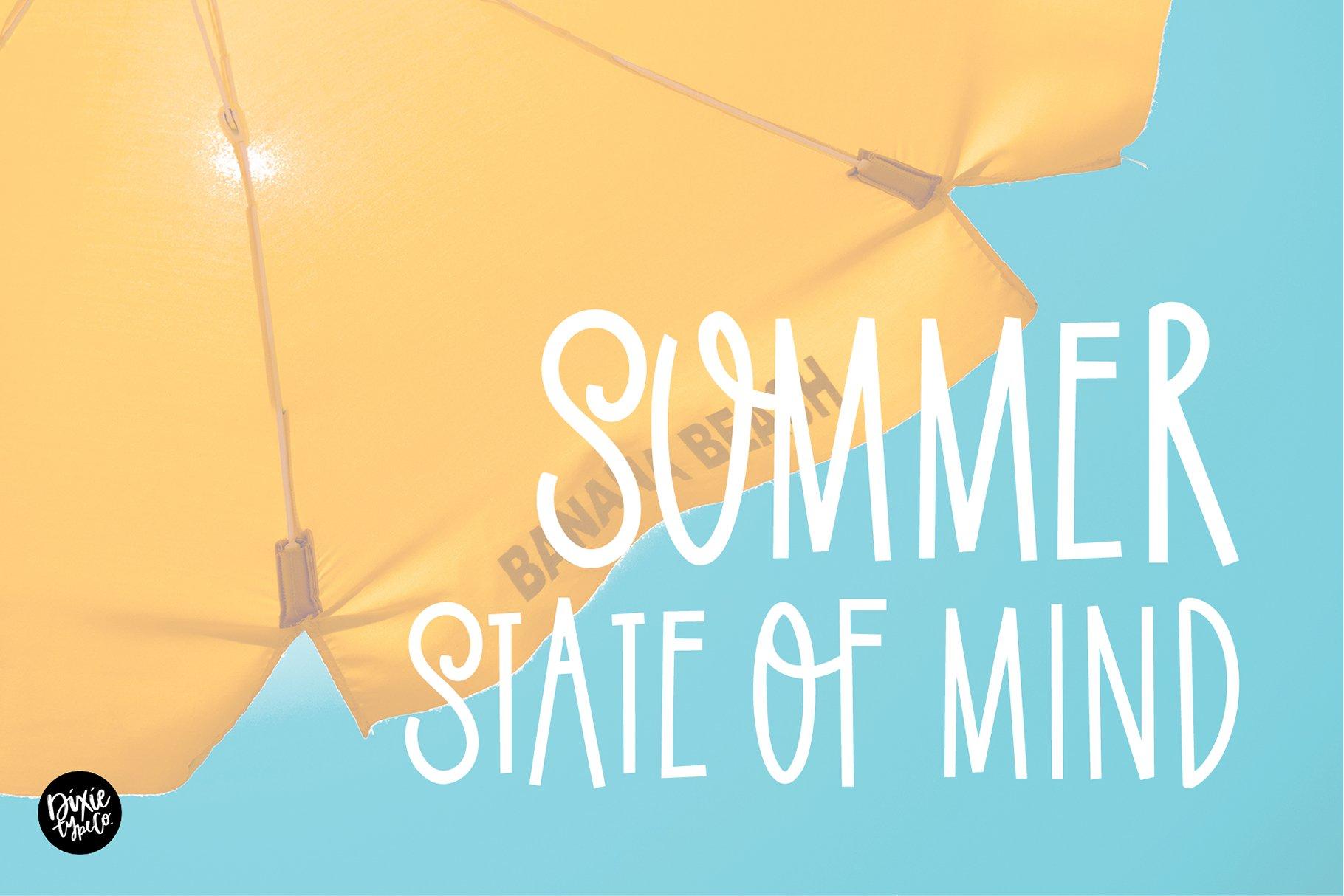 SUMMER SOLSTICE a Cute Sans Serif Font example image 3