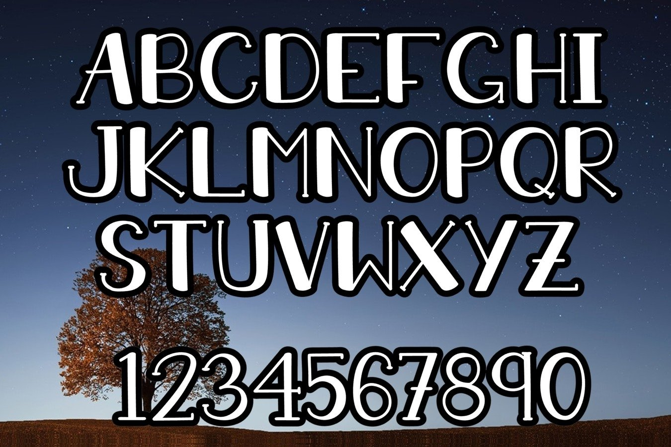 LATE AT NIGHT | An All Caps Font With Numbers example image 2