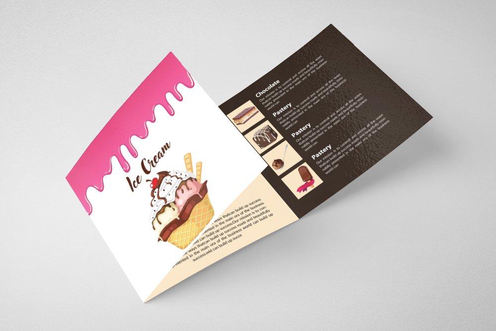 Ice Cream Square Trifold Brochure example image 3