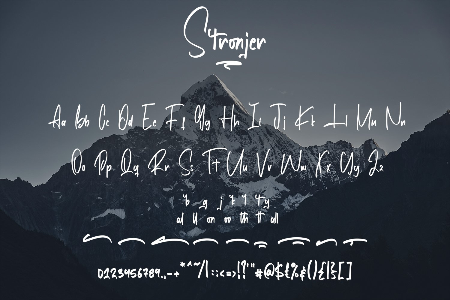 Stronjer - Script Fonts example image 5