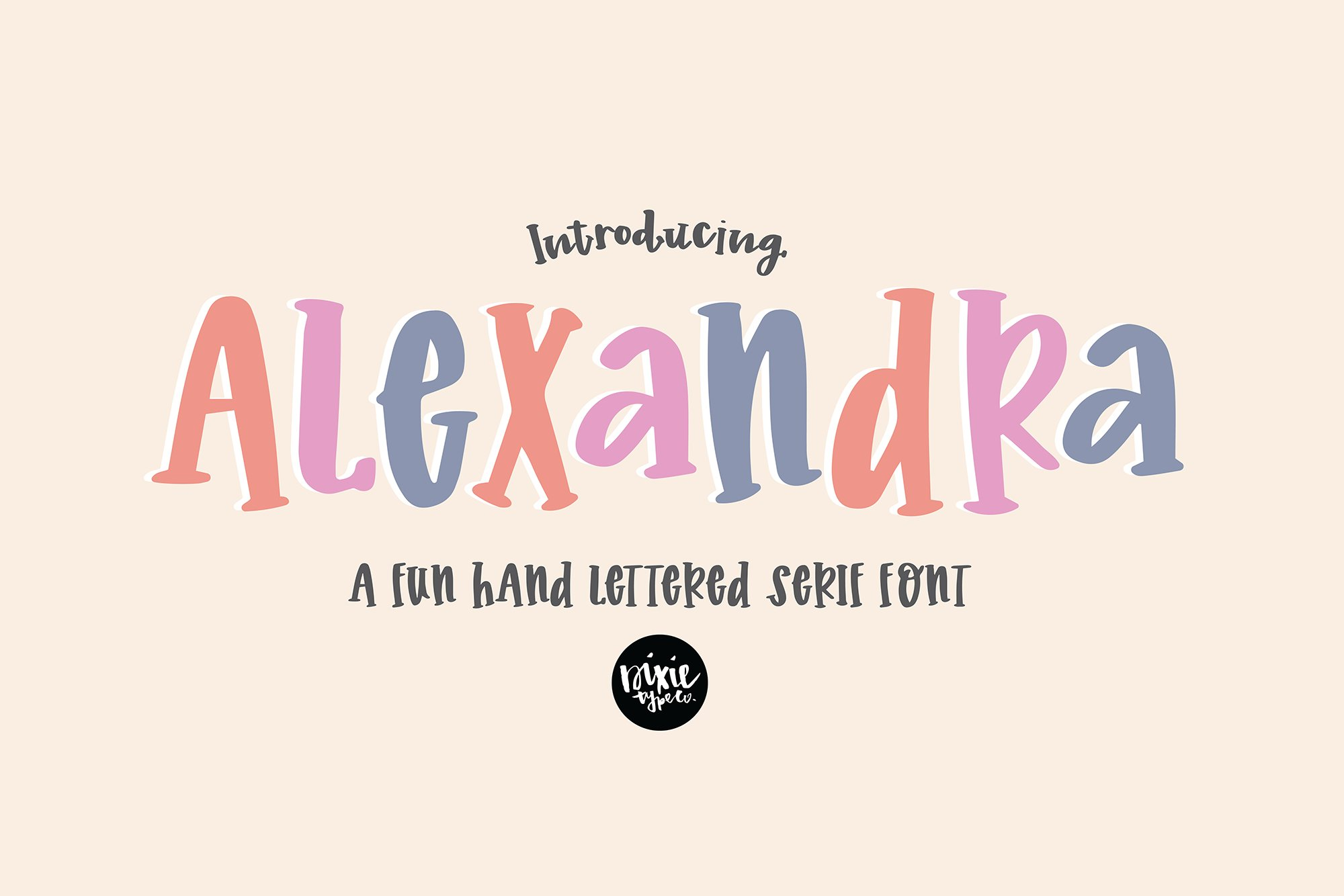 """""""Alexandra"""" a Hand Lettered Serif Font example image 1"""