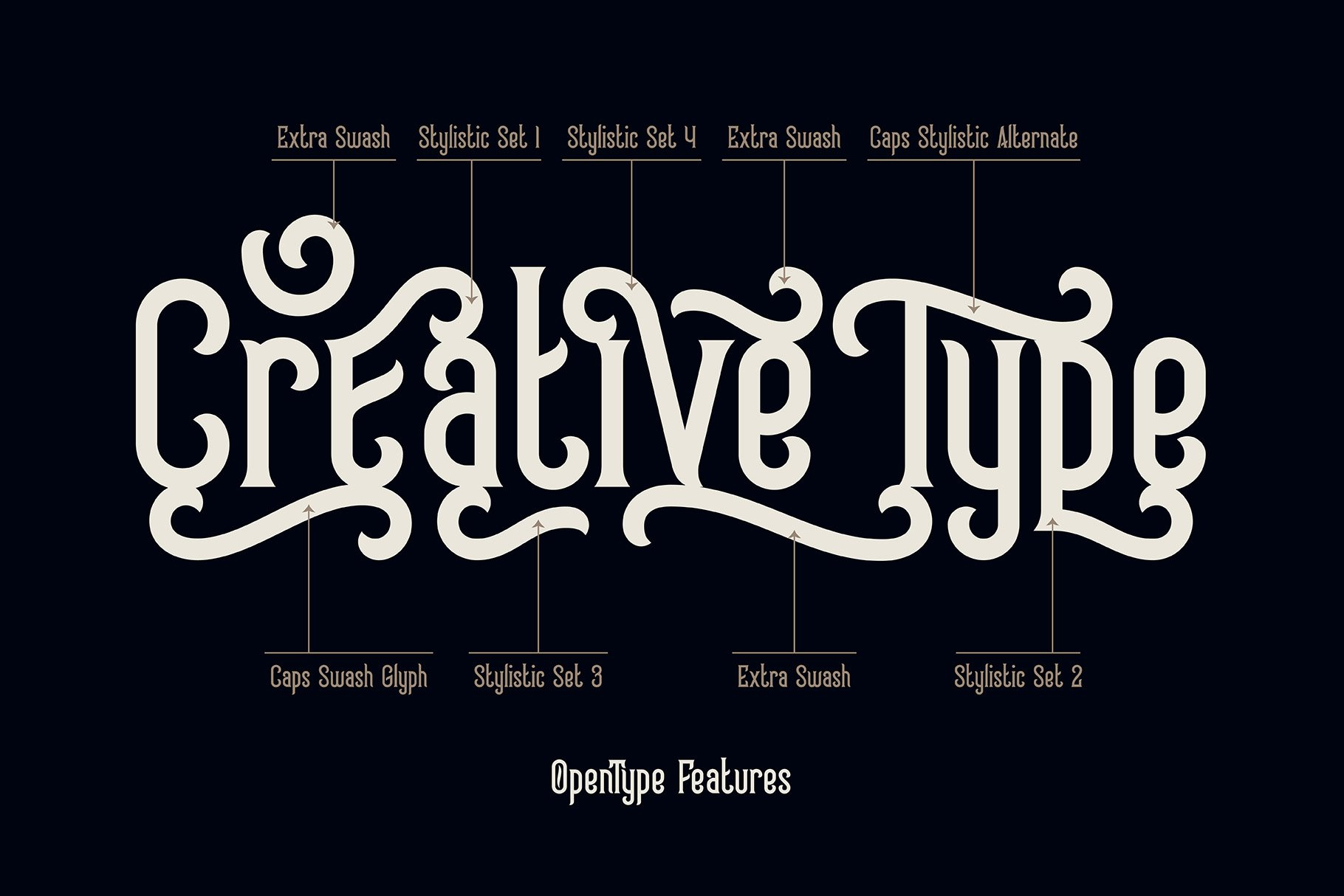 Frizzy vintage font example image 2