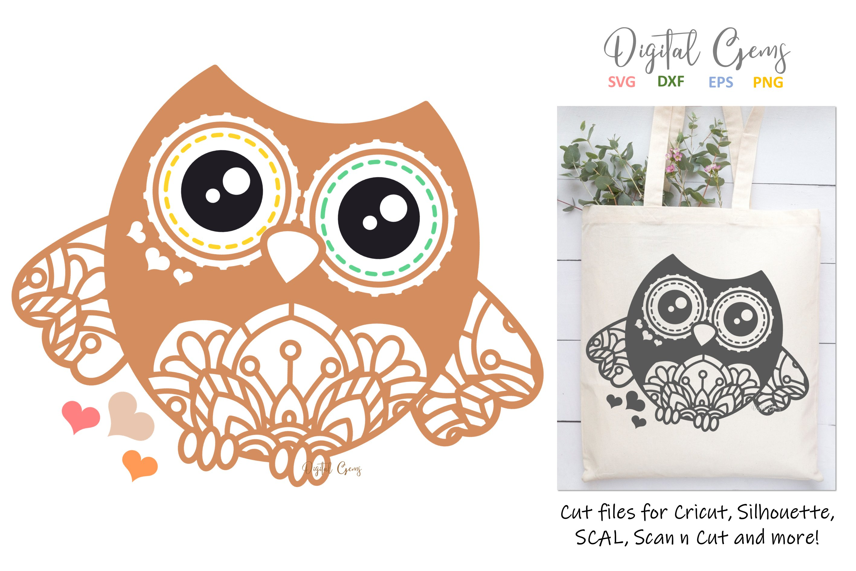 Owl Svg Eps Dxf Png File 254655 Svgs Design Bundles