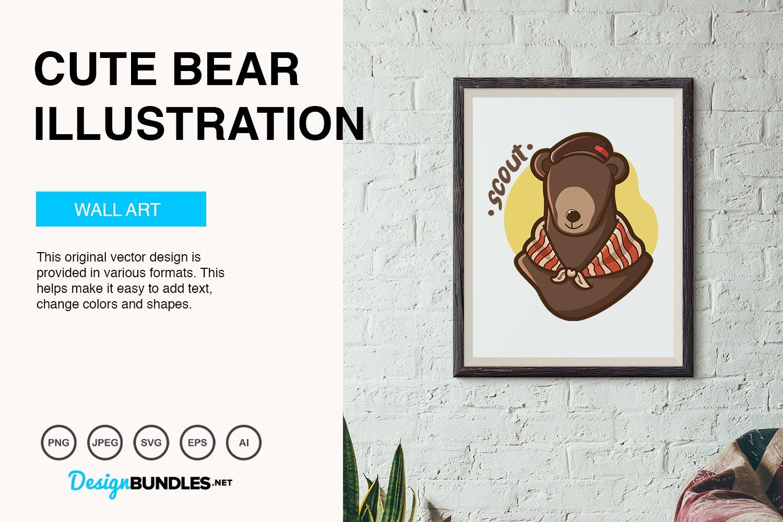 Cute Bear Vector Illustration example image 4