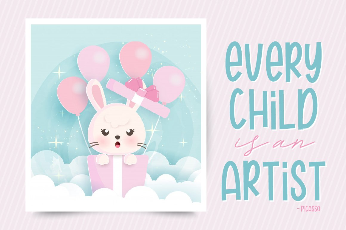 Hannie Bunny | Funny Font example image 3