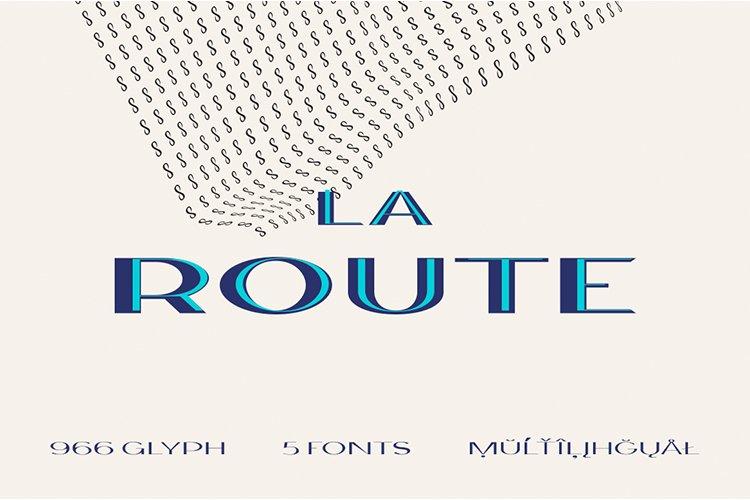 La Route Typeface example image 1