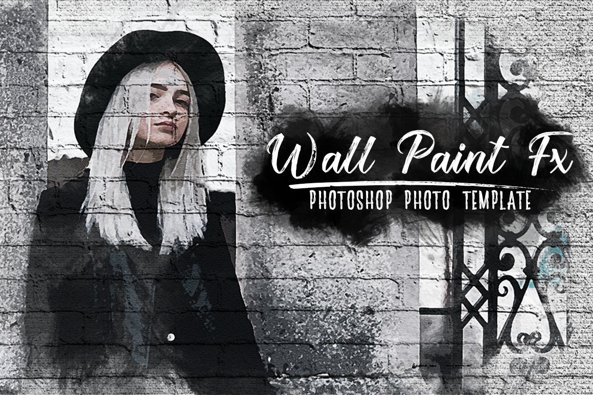 Wall Paint FX for Adobe Photoshop example image 1