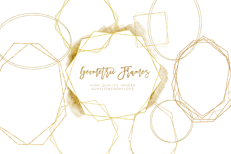 Download Geometric Frames Png Clipart Invitation Gold Clipart 722135 Illustrations Design Bundles