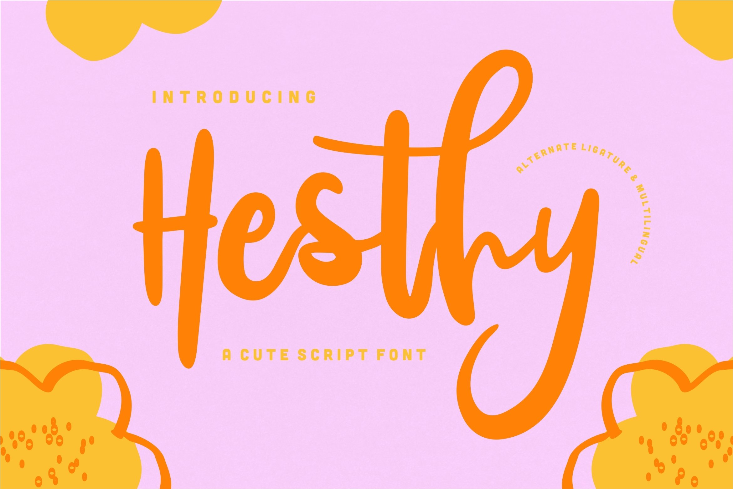Hesthy - A Cute Script Font example image 1