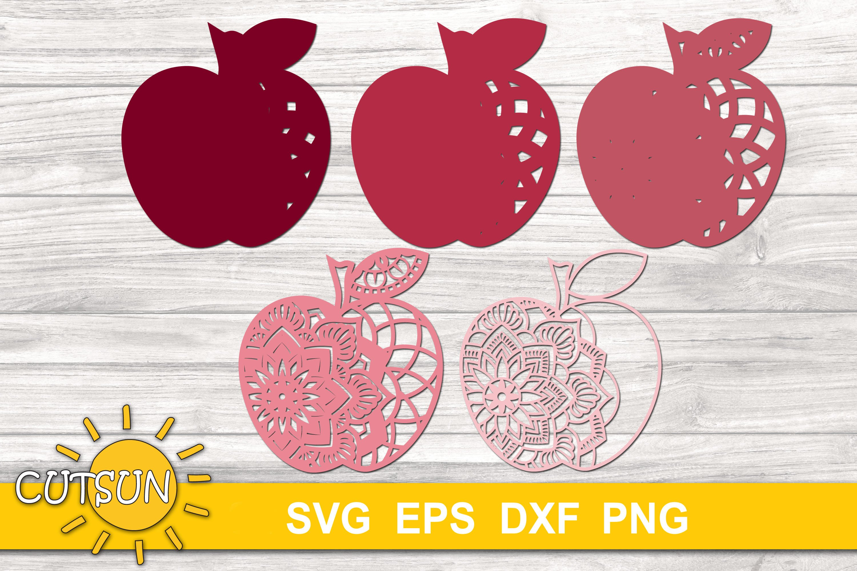 Download 3D Layered Mandala Apple SVG cut files for crafters - 5 ...