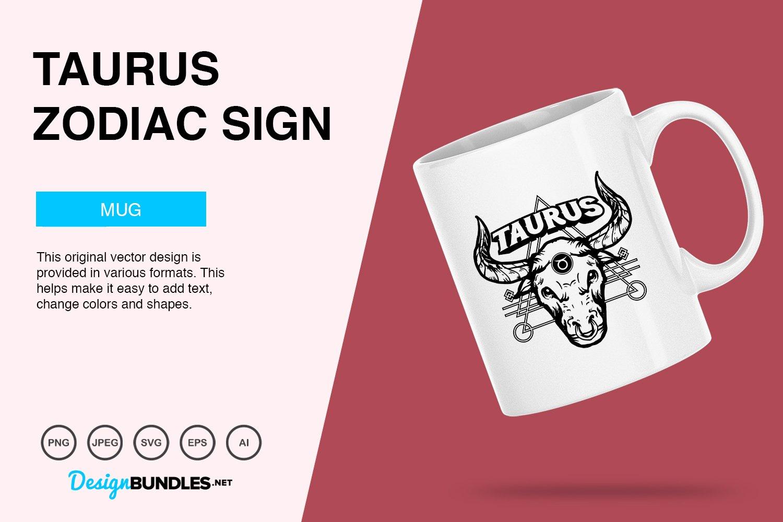 Taurus Zodiac Sign Vector Illustration example image 3