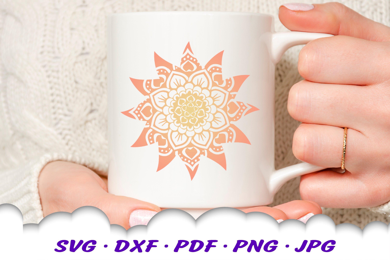 Mandala Sun Floral Celestial Summer SVG DXF Cut Files Bundle example image 11