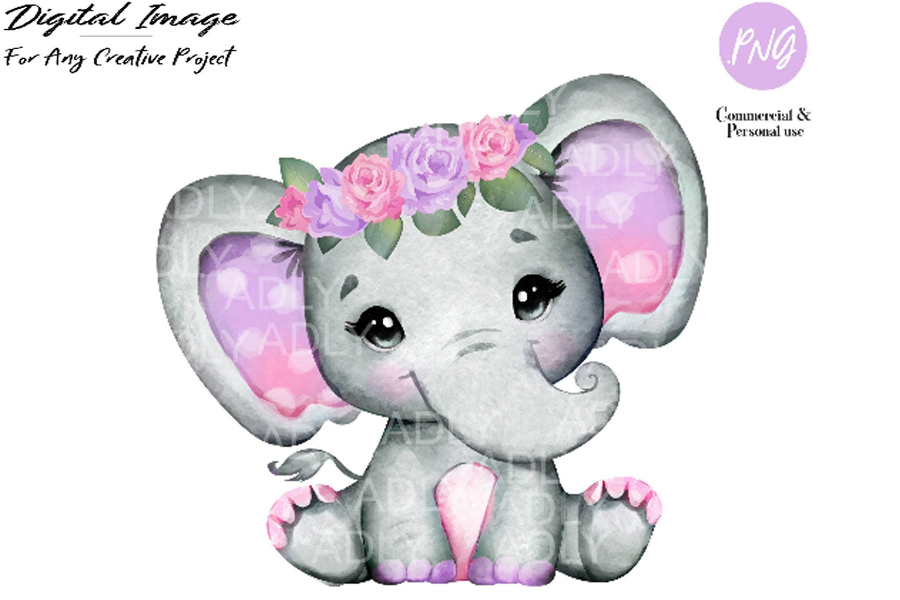 Purple Pink Elephant Clip Art Watercolor Cute Little Peanut 383987 Illustrations Design Bundles Use it in a creative project, or as a sticker you can share on tumblr, whatsapp, facebook messenger, wechat, twitter or in other messaging apps. purple pink elephant clip art watercolor cute little peanut