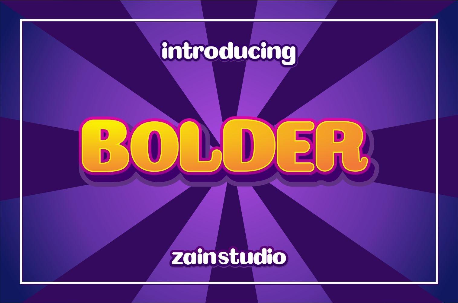Bolder Display Font example image 1