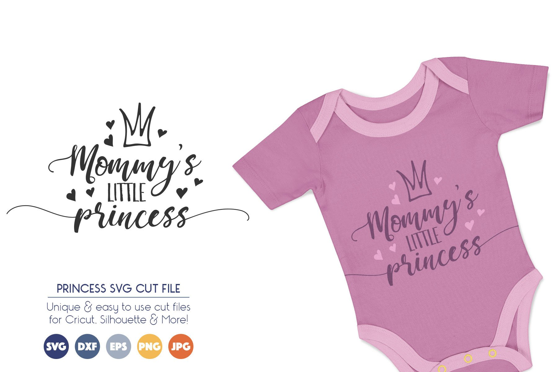 Mommy's Little Princess SVG Cut Files example image 1