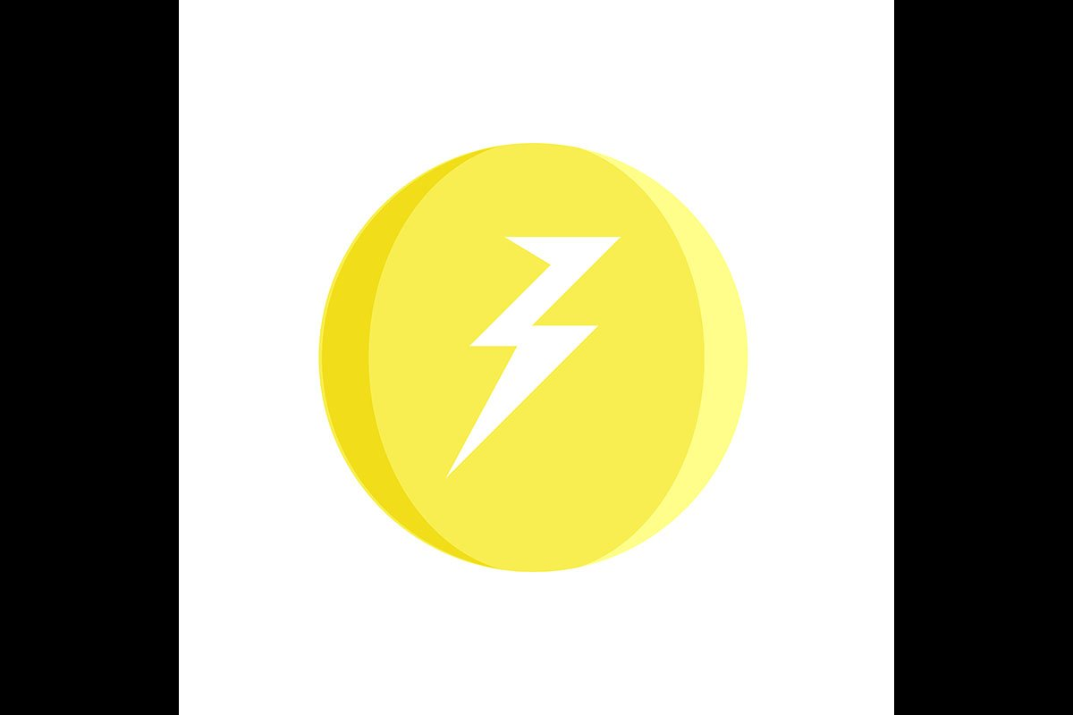 Lightning Bolt Symbol Yellow Icon Vector Illustration 875615 Icons Design Bundles