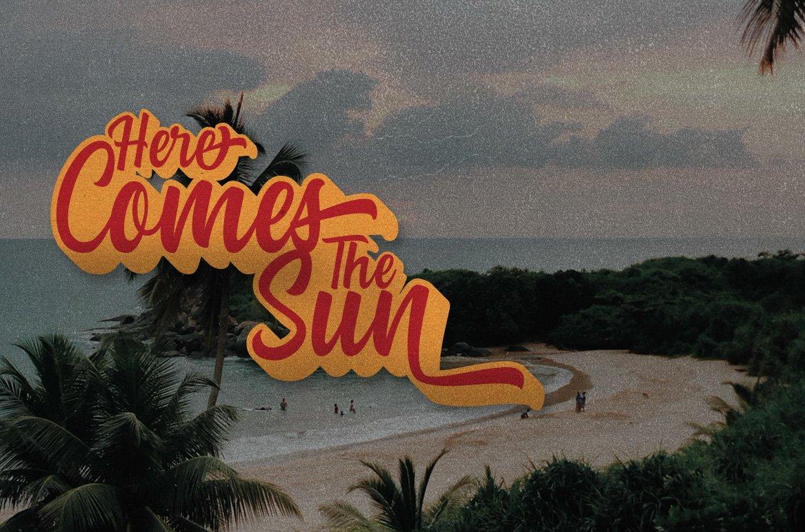 Summer Fruit - Logo Font example image 7