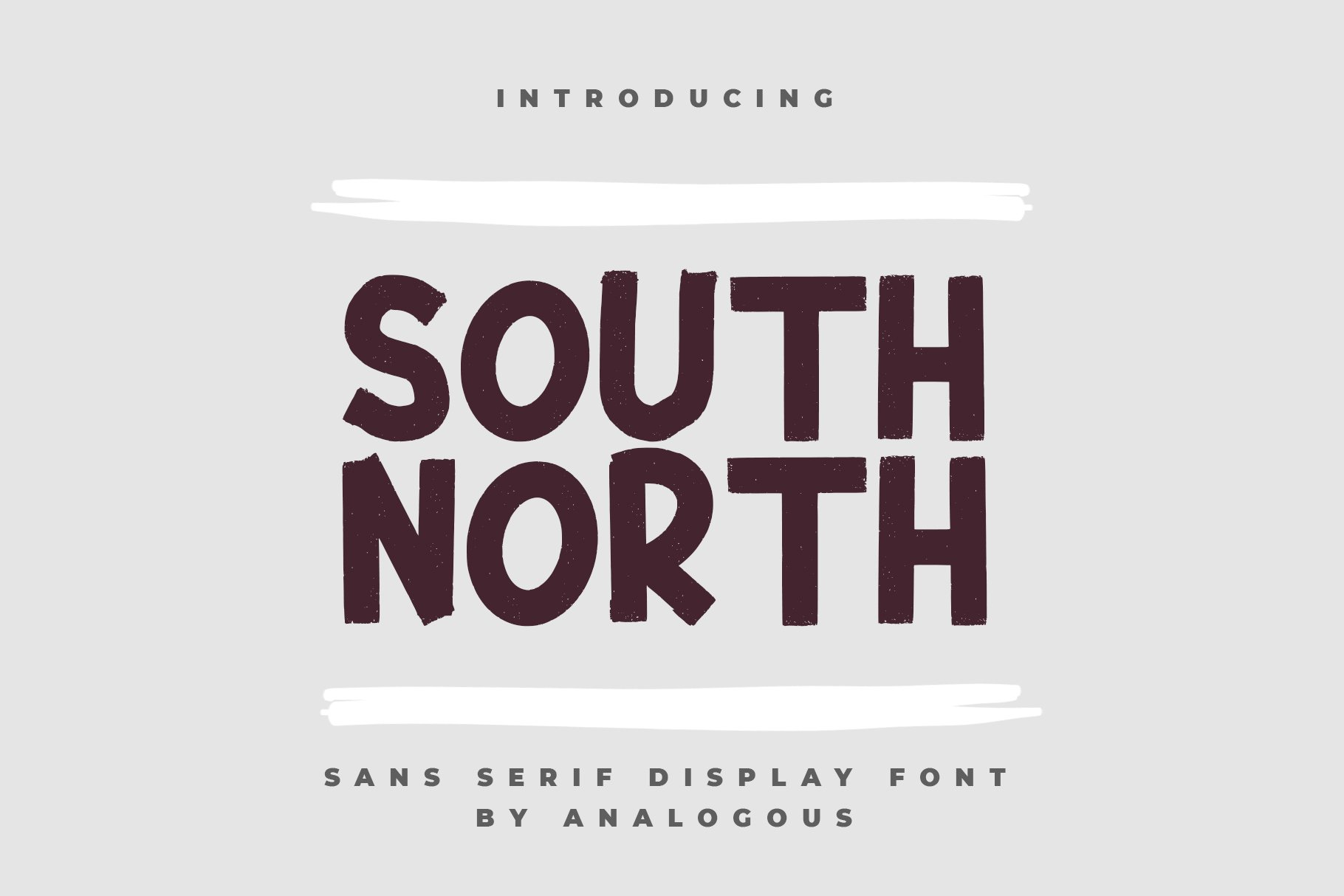 SOUTH NORTH || Display Font example image 1