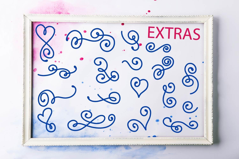 Swirly Monogram - With Swooshy Monoline Extras example image 7