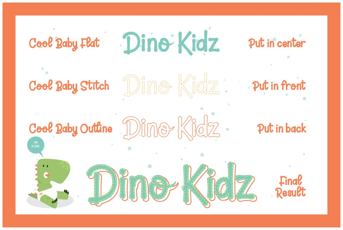 Cool Baby - A Fun Family Font example image 8