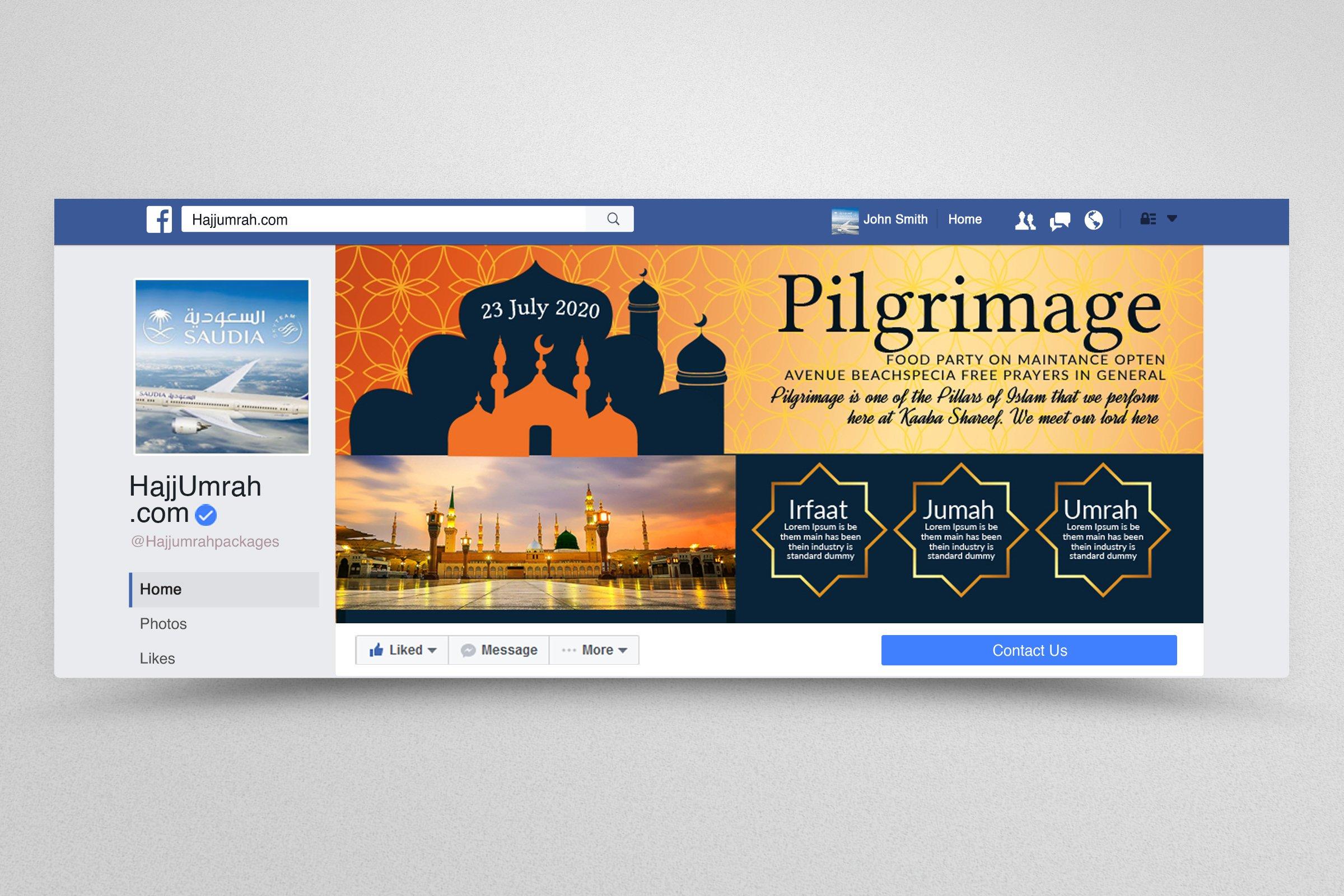 Hajj & Umrah Agency Facebook Banner example image 1
