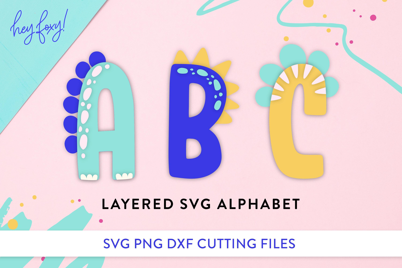 Dinosaur Monogram Alphabet Svg 603108 Hand Lettered Design Bundles