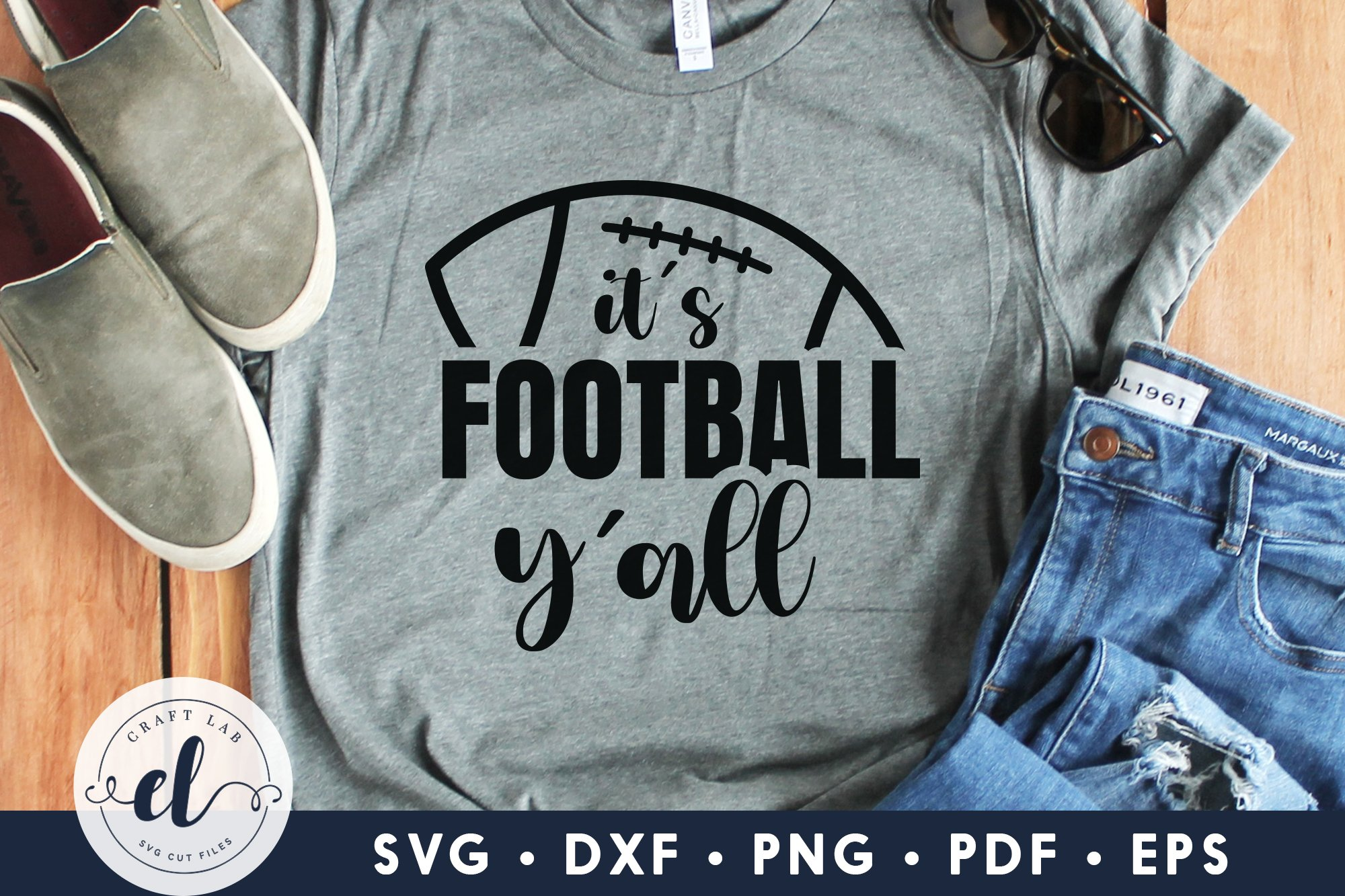 Get It's Football Y'all Cutting File SVG