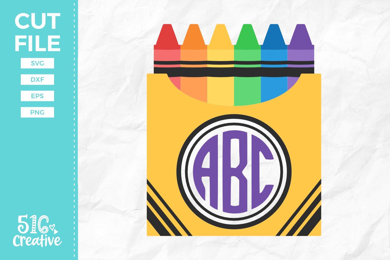 Monogram Crayons Svg Dxf Eps Png 121280 Svgs Design Bundles