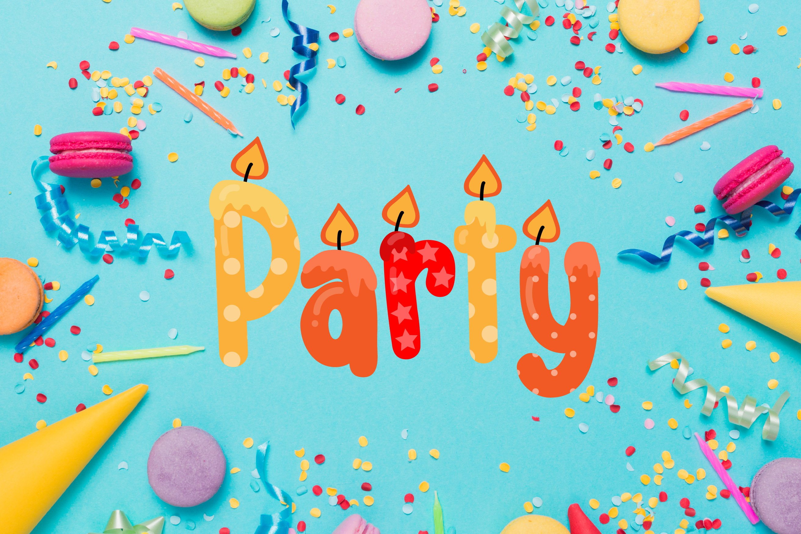 Birthday SVG Font Duo example image 7
