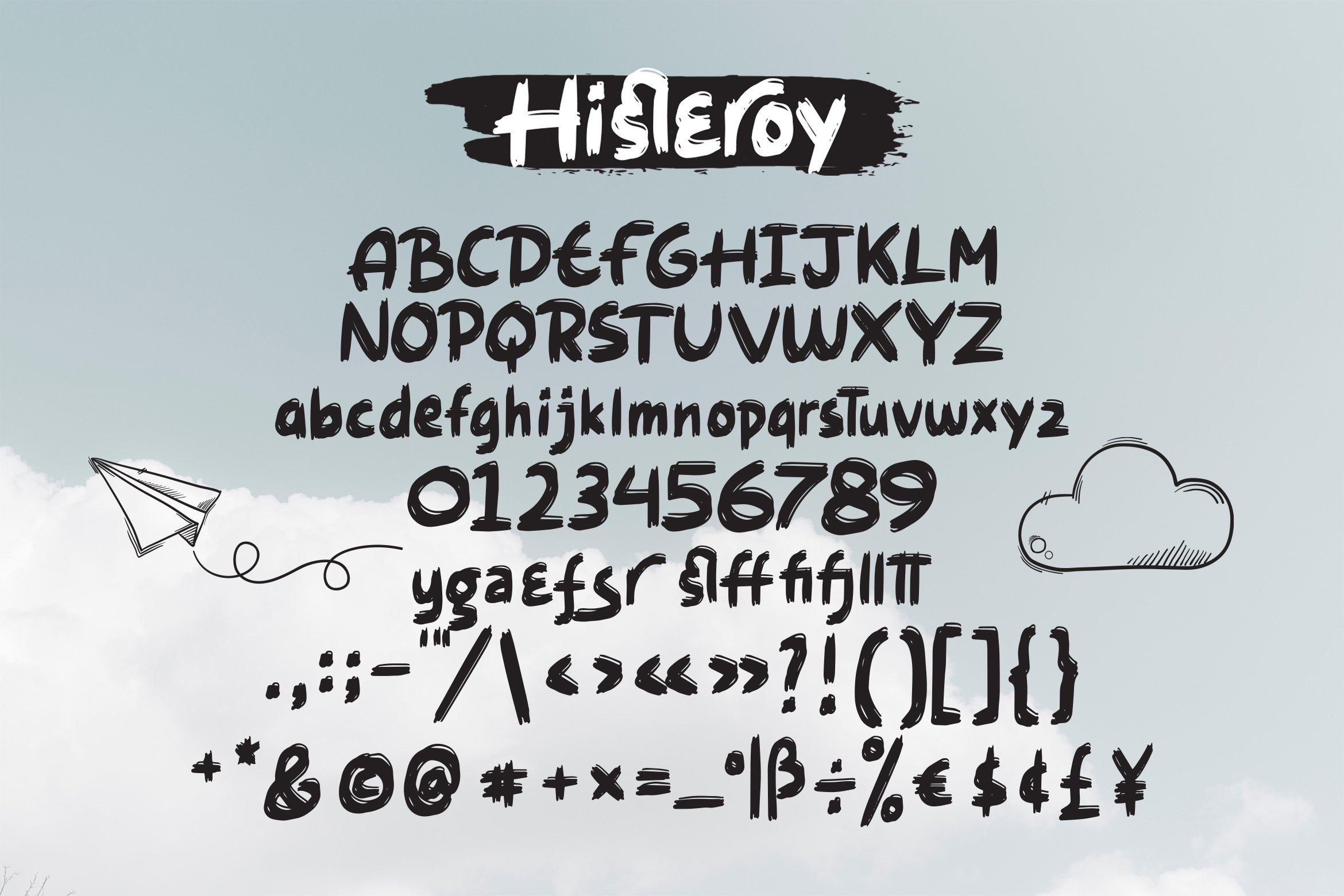 Histeroy - Custom Sketch Font example image 3