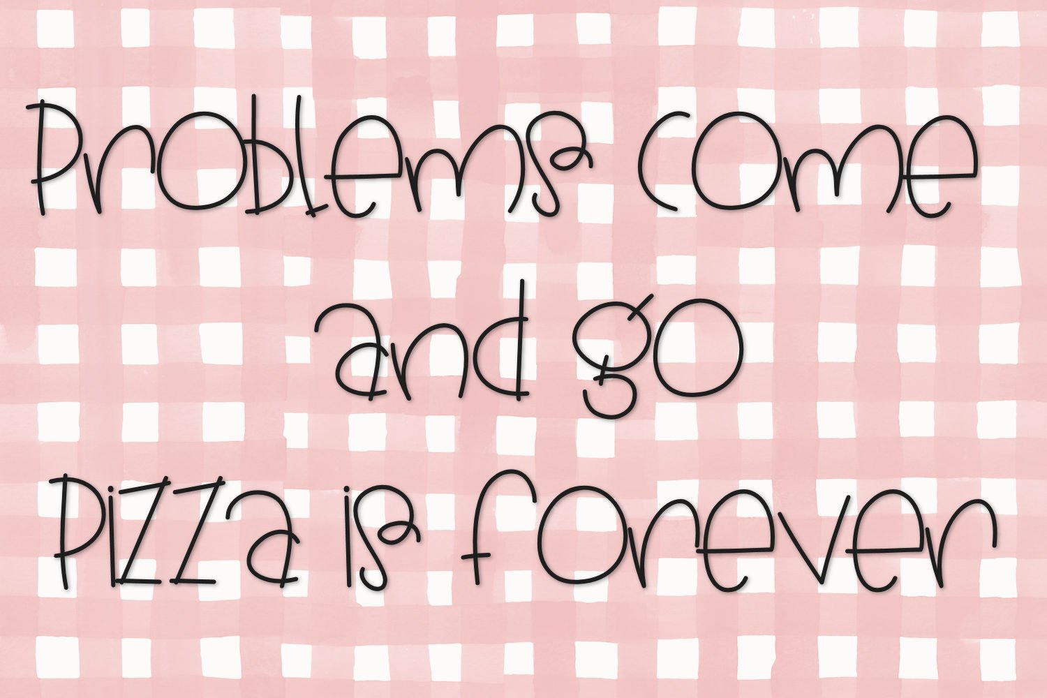 Pickle Pizza - A Handwritten Font example image 2