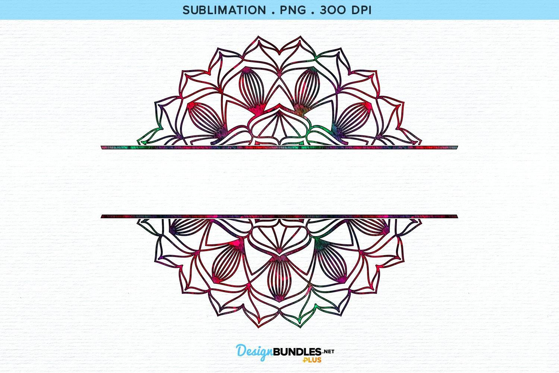 Split Monogram Sublimation example image 2
