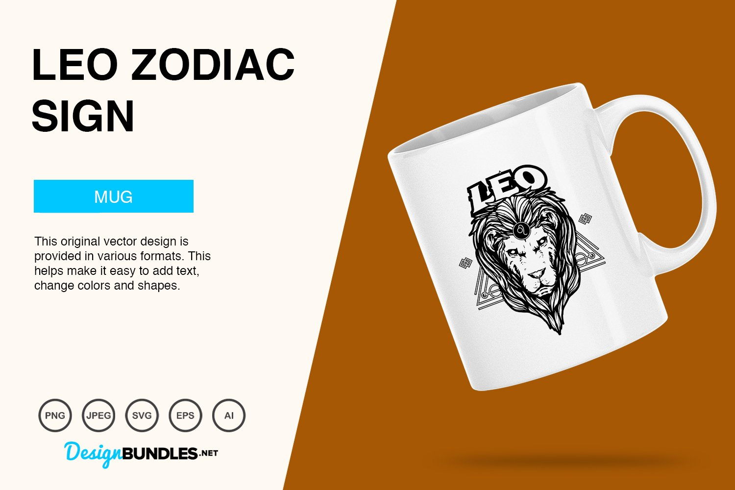 Leo Zodiac Sign Vector Illustration example image 2