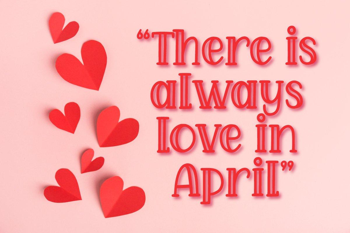 April Love - Handwritten Font example image 5