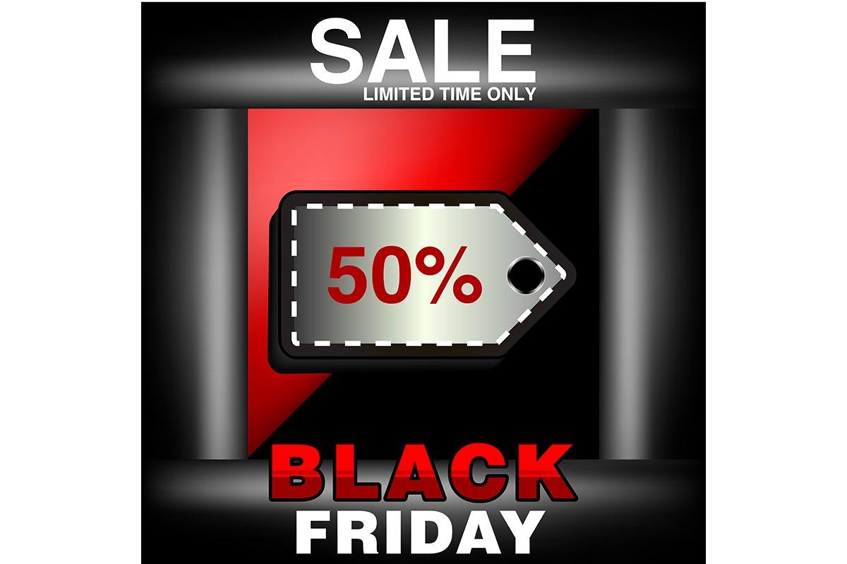 Black Friday Sale Inscription Design Template Vector Illust 703485 Logos Design Bundles