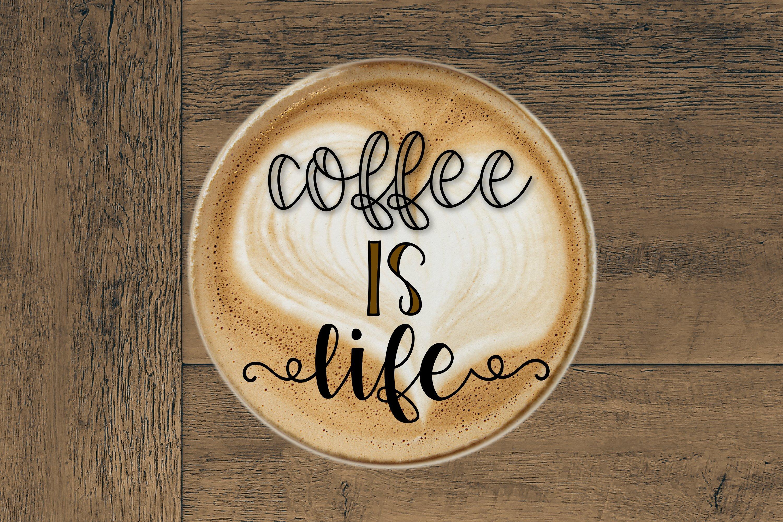 Coffee Grinder - Inline & Solid - Caps & Script example image 6