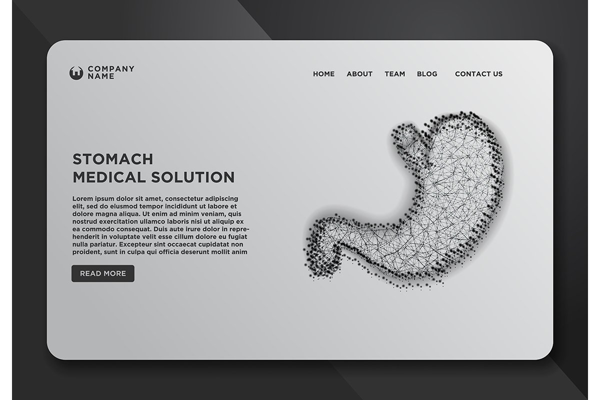 Web page design templates collection of Stomach. The concept example image 1