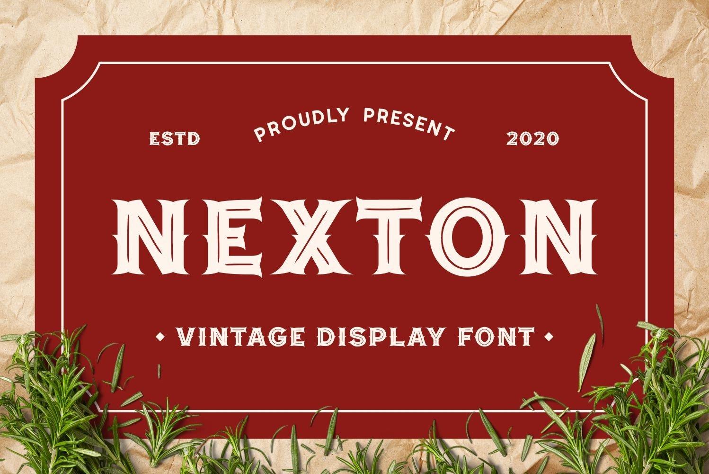 Nexton - Vintage Display Font example image 1