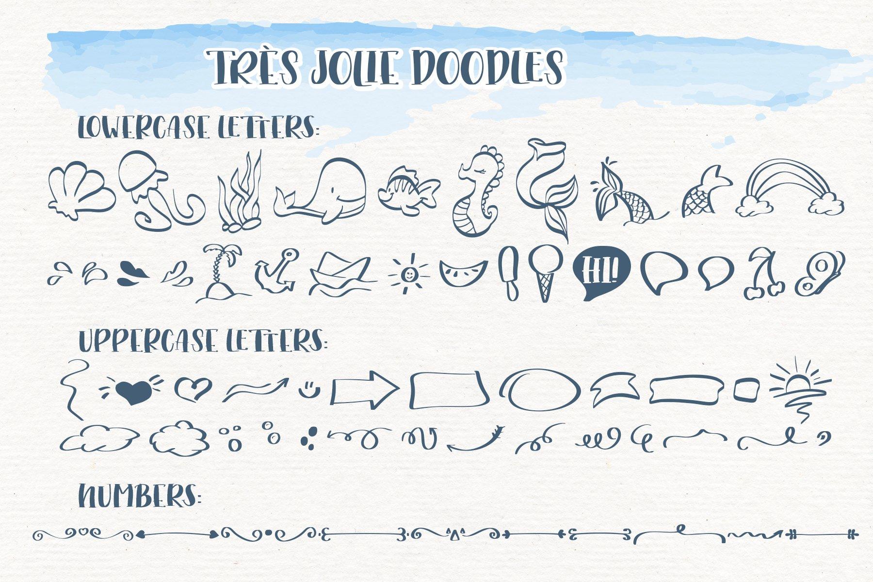 Trés Jolie - Serif Font with Doodles example image 3