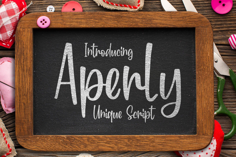 Aperly - Unique Script Font example image 1