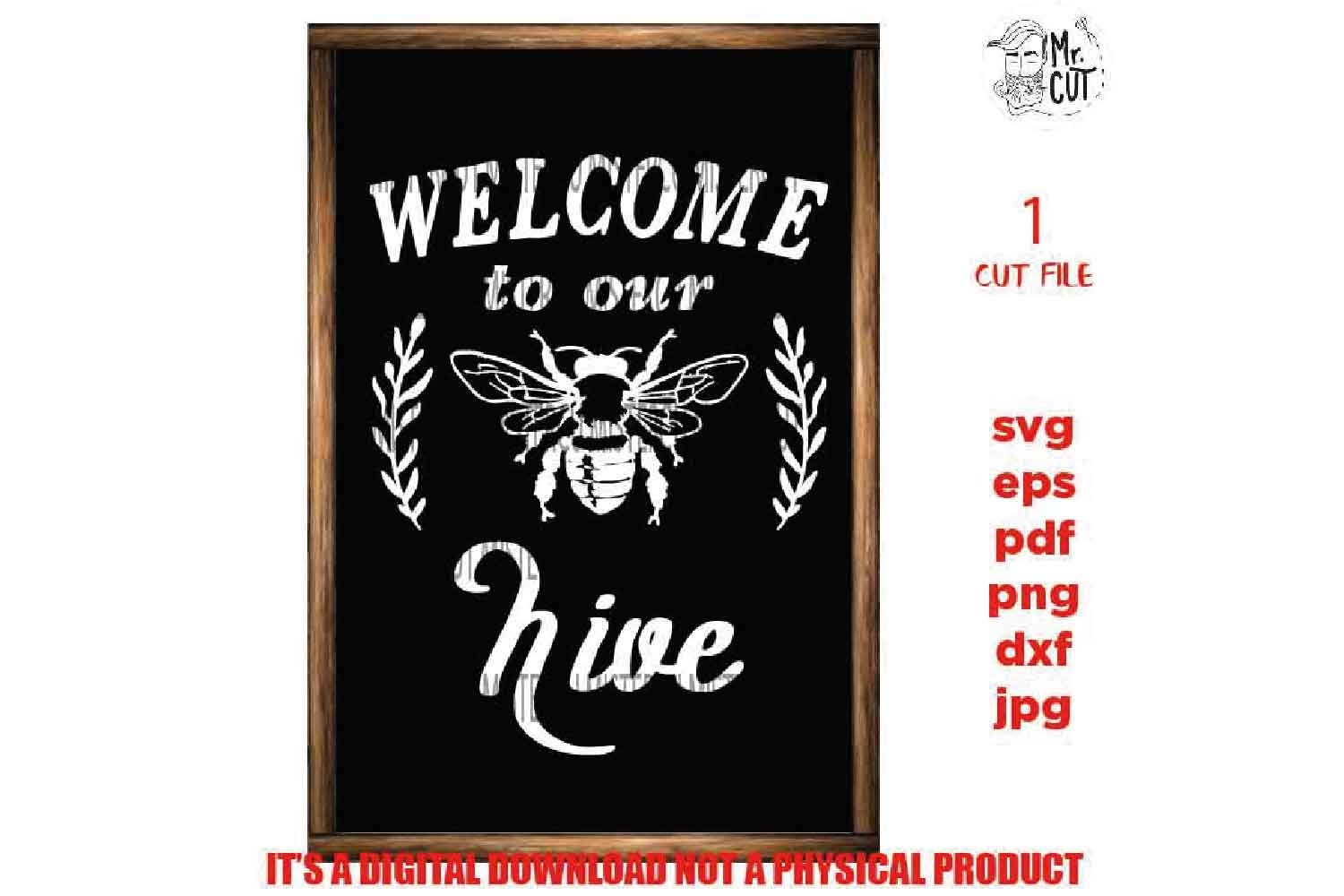 Welcome to our hive svg, Farmhouse Wall Decoration, cut file example image 2