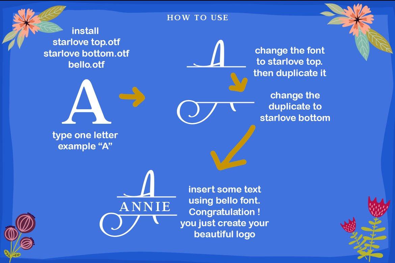 Starlove Monogram Font & Bonus Serif Font example image 8