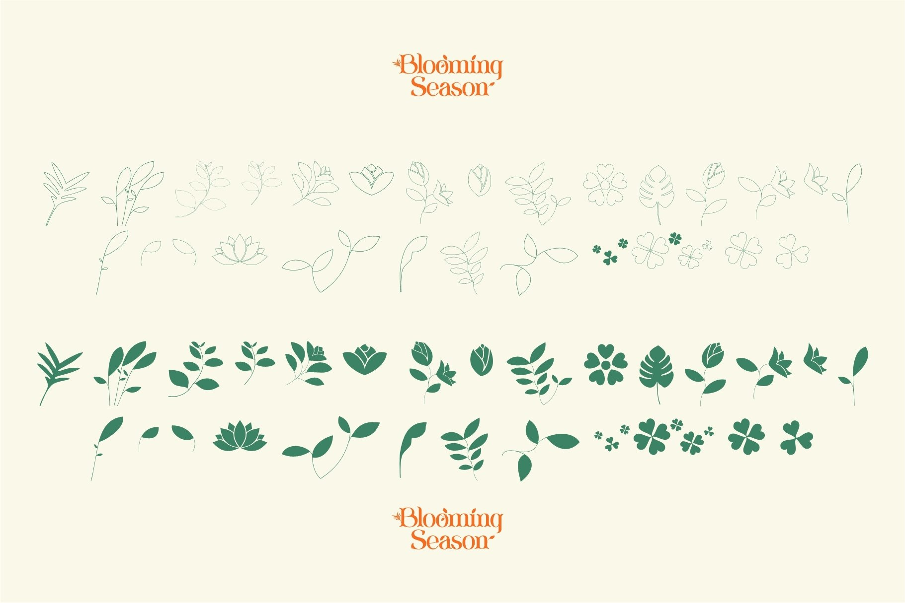 Blooming Season Floral Font example image 14
