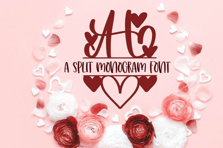 A Heart Split Monogram Font example image 4